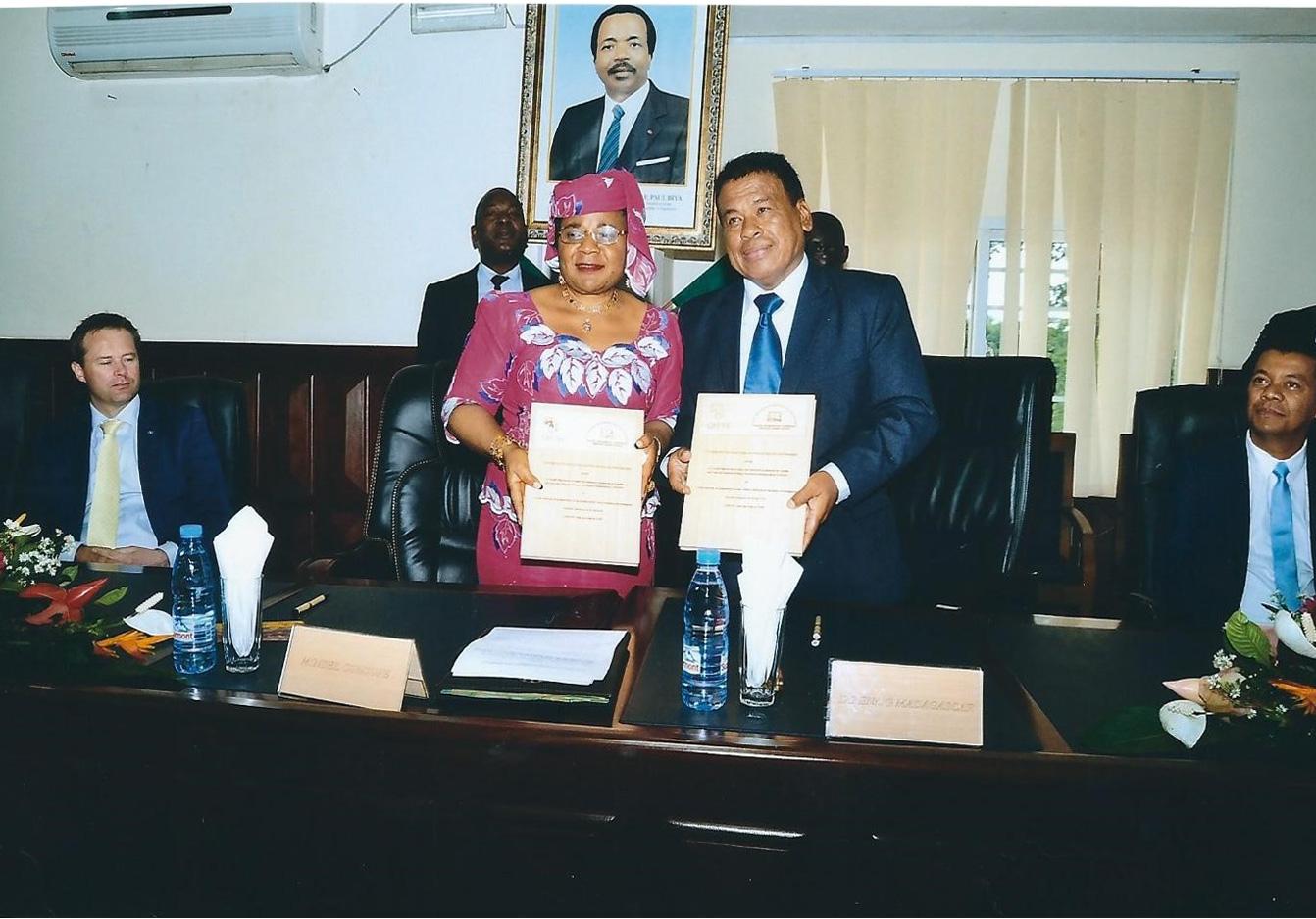 SIGNATURE DU PROTOCOLE DE PARTENARIAT ENTRE L'ECOLE NATIONALE DE LA MAGISTRATURE ET DES GREFFES DE MADAGASCAR ET LE CREFIAF